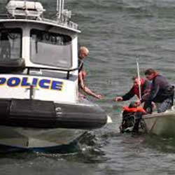 Boat Police helping