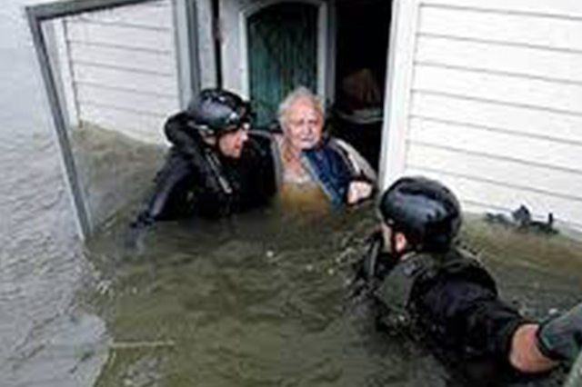 Police rescue from flood