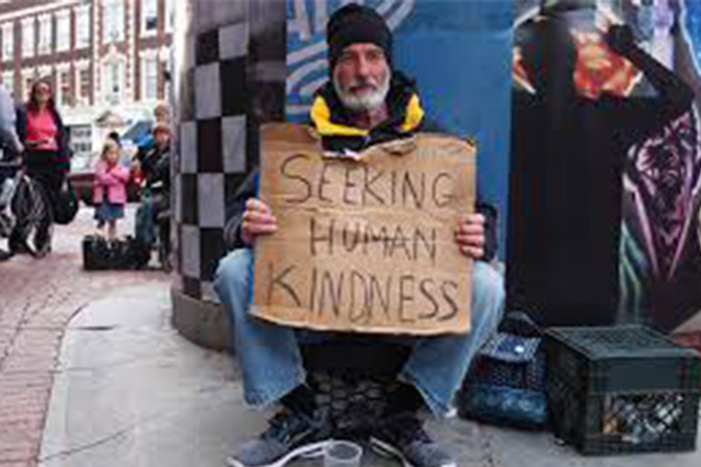 Homeless seeking help